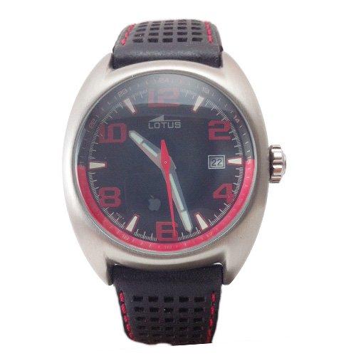 Uhr Lotus 15322 F Sport Lederband schwarze und rote Naht