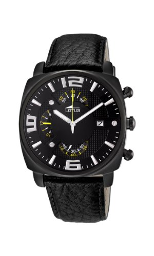 Lotus Herren Armbanduhr Chronograph Quarz Leder 10108 3
