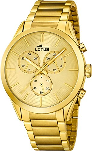 Lotus Herrenarmbanduhr Chronograph Edelstahl goldplattiert L18115 1 Minimalist 139