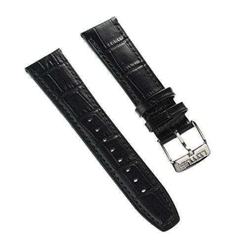 Lotus Uhrenarmband Fashion Armband Material Leder schwarz fuer Lotus L18223 L18222 Uhren