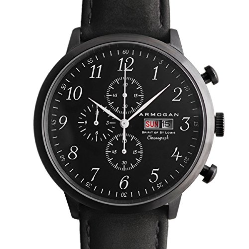 Armogan Spirit of St Louis Armbanduhr Midnight Black