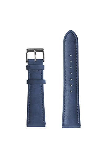Classic Suede Leather Blue Blue Silver
