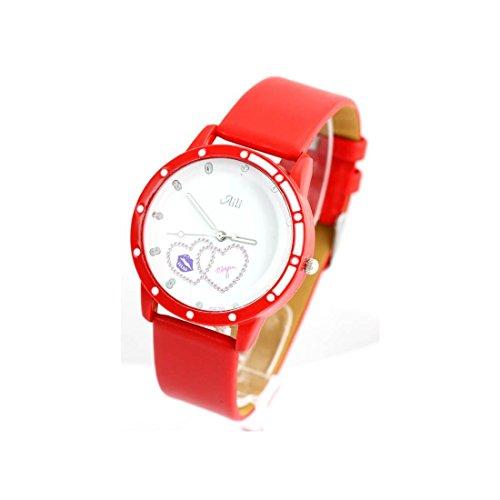Zeigt Damen Armband Leder rot 1540