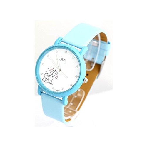 Zeigt Damen Armband Leder Blau 1549