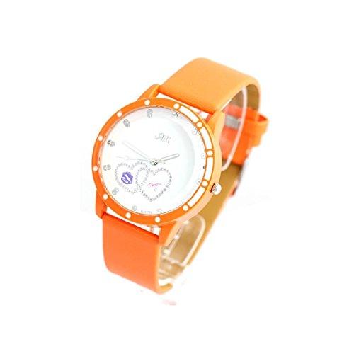 Zeigt Damen Armband Leder orange 1546