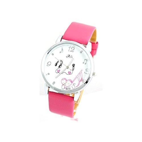 Zeigt Damen Armband Leder pink 1524