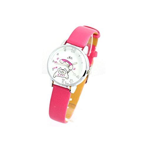 Zeigt Damen Armband Leder rosa 1522