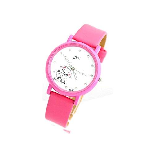 Zeigt Damen Armband Leder rosa 1525