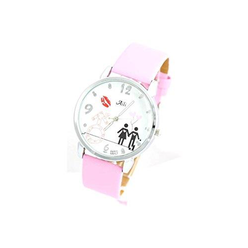 Zeigt Damen Armband Leder rosa 1510