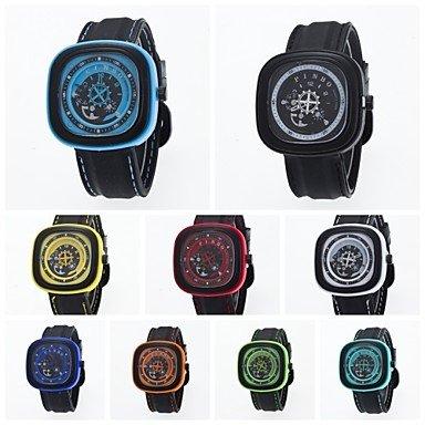 2016 neue Ankunft Unisex Armbanduhr Sport Freizeit Quadrat Uhrgehaeuse guenstigen Preis Farbe Weiss