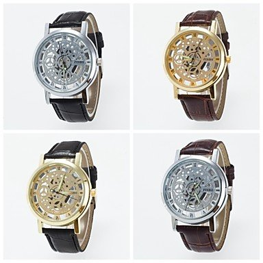 2016 neue Ankunft modische Skelett Unisex Armbanduhr Farbe Silber