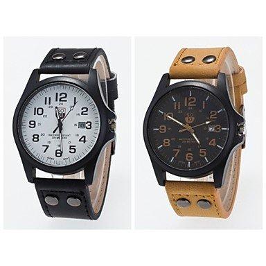 2016 neue Ankunft Unisex Armbanduhr der koreanischen Art der Sport Uhr Freizeit Unisex Armbanduhr Farbe Kaki