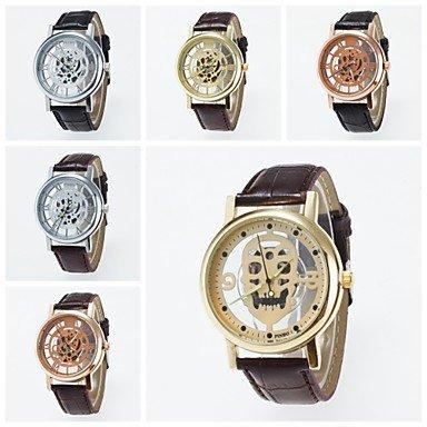 2016 neue Ankunfts moderne Nachahmung mechanische Armbanduhr unisex Uhren Skelett Wahl Freizeit Armbanduhr Farbe Silber