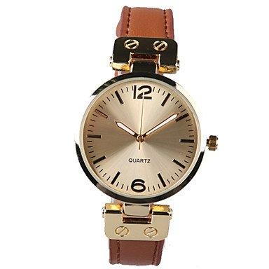 Aussenhandel Art und Weise duennen Lederband Uhr Farbe Braun Geschlecht Fuer Damen