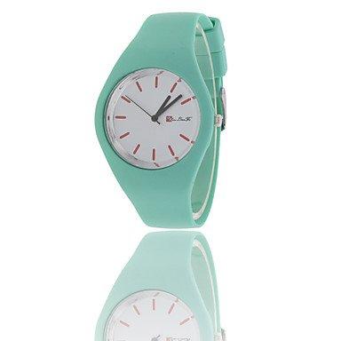 Beilaeufige Uhr unisex Quarz Waechter Frauensport watchessilicone Uhren Armbanduhren Farbe Weiss Grossauswahl Fuer Damen Einheitsgroesse