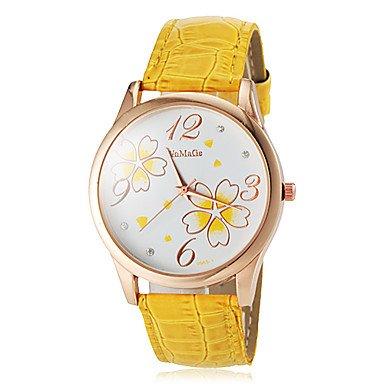 Uhr Blumenfrauen Muster Gold Farbe Gelb Grossauswahl Einheitsgroesse