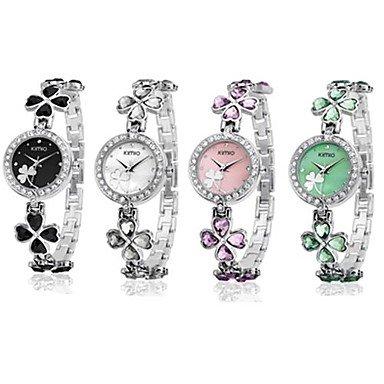 Damenmode kimio Marke Legierung analoge Quarz Armbanduhr verschiedenen Farben Farbe Gruen