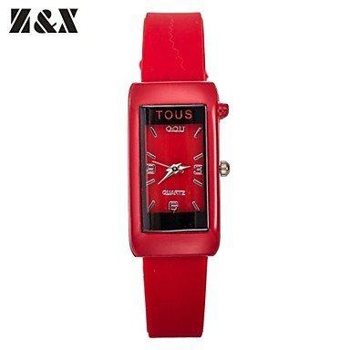 Damenmode Persoenlichkeit Quarz Silizium analoge Armbanduhr farbig sortiert Farbe Mehrfarbige