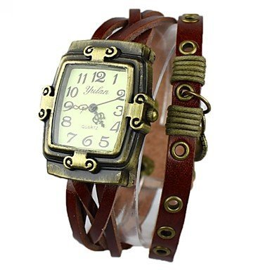 boehmischen Herzen haengig Ledergeflecht Armband farbig sortiert Farbe Braun