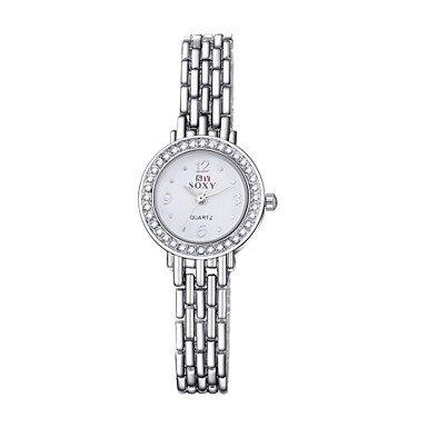 Koreanische Art runde Form Legierung Aussenhandel Uhr Farbe Weiss Geschlecht Fuer Damen