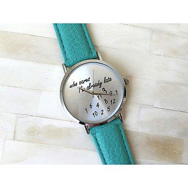 3 Farben die im kuemmert spaeten trotzdem beobachten Lederband Frauen Quarzuhr Uhren mujer Farbe Gruen Geschlecht Fuer Damen
