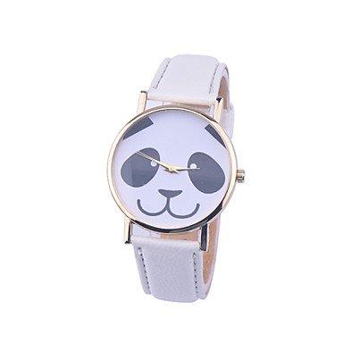 Neue Lederarmband Art und Panda genf Quarzuhr relogio feminino beobachten Farbe Weiss Geschlecht Fuer Damen