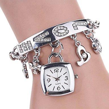 Frauen rechteckige Zifferblatt 100 Edelstahl Luxus Mode Dame bracklet Kleid Armbanduhr Farbe sortiert c D 137 Farbe Silber