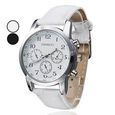 Damen Water Resistant Stil pu Analog Quarz Armbanduhr verschiedene Farben Farbe Weiss Grossauswahl Einheitsgroesse