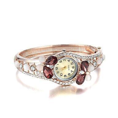 Sjeweler Maedchen weibliche bunte Diamanten Rose Vergoldung Armbanduhr Farbe Rot Geschlecht Fuer Damen