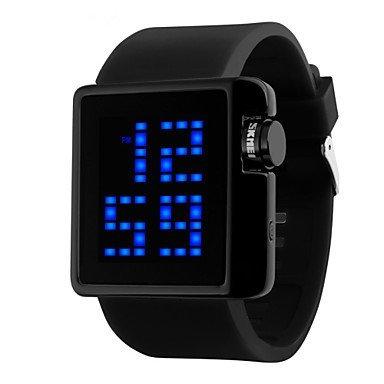 Skmei Frauen Mode Multifunktions LED Armbanduhr 50m wasserdicht Farben sortiert Farbe Schwarz Grossauswahl Fuer Damen Einheitsgroesse