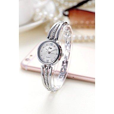 Studentinnen Diamantstahlguertel von Luxus Mode Uhren Farbe Silber Geschlecht Fuer Damen