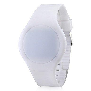 Unisex Rubber Digital LED Armbanduhr farbig sortiert Farbe Weiss Grossauswahl Einheitsgroesse