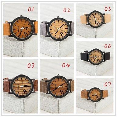 Weisepu europaeischen Stil vintage Unisexuhren Holz Uhr Maenner und Frauen zu sehen Farbe 7