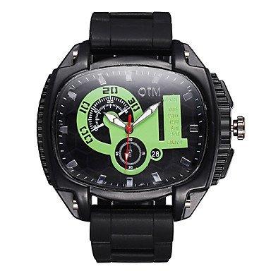 Leucht grosse Zifferblatt Silikonband Quarz Sportuhr Herren Outdoor Mode laessig Uhren Jungen Luxusmarke Farbe Kaffee