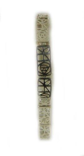 Pretty Art of Mackintosh gekennzeichnet Zarte Silber Damen Armband Armbanduhr