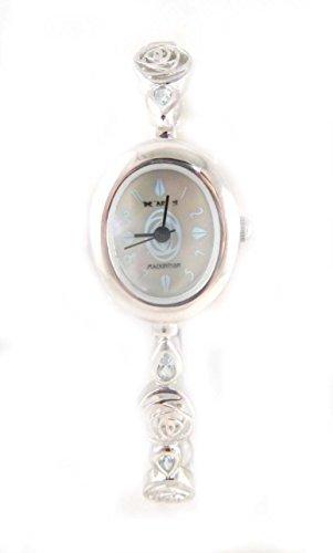 mit Punze Silber Art of Mackintosh blau Topaz Set Damen Armband Armbanduhr
