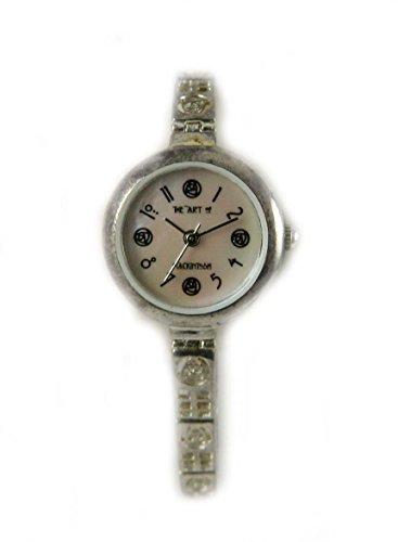 mit Punze Silber Art of Mackintosh Uhr Echte Mutter von Pearl Zifferblatt