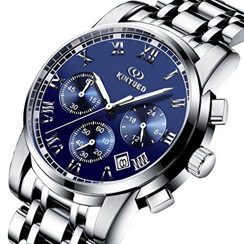 ACMEDE Herren Armbanduhr Analog Quarz Edelstahl Silber JYD 1009