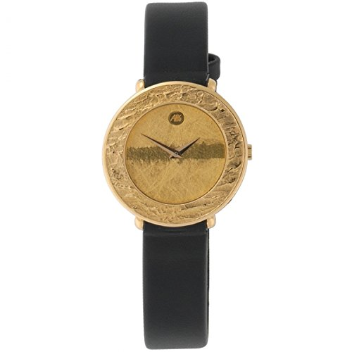 ARS Quarz Analog 750 Gold Gelbgold Lederband Safirglas