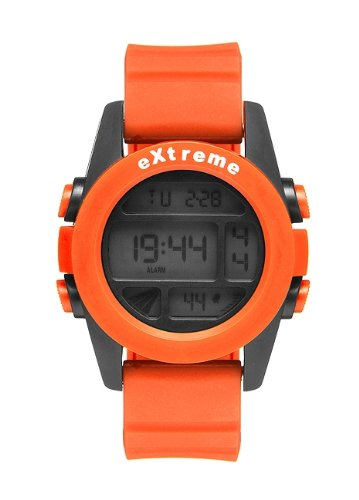Addison Ross Unisex Armbanduhr Extreme Orange Digital Silikon Orange WA0504