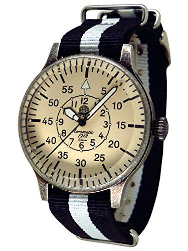 Trendige Armbanduhr von Aeromatic 1912 mit Nato Armband A1152SW