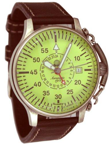 Automatik Flieger Uhr 24h Anzeige Spez Feder Kronensicherung luminous Ziffernblatt A1396