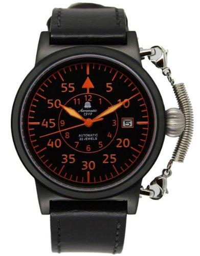 Automatik Flieger Uhr Spez Feder Kronensicherung im Retro Look A1332