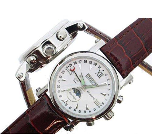 Herren Armbanduhr Automatik 35 jevels Damen Vista Mechanische Sun Moon