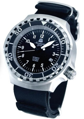 Military Flieger Uhr Automatik Werk Saphir Glas verschraubte Krone A1391