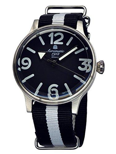 Trendige Uhr von Aeromatic 1912 mit Riesenzeigern A1365SW