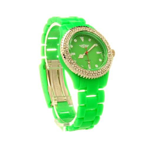 Accessoryo Diamante Fahrenheit Uhr In Gruen