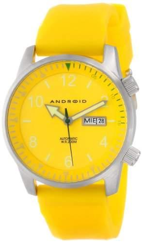 Android Herren AD267BYLOctopuz Automatic Yellow Zifferblatt