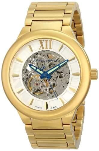 Android Herren AD509BG Radius Skeleton Automatic Gold Tone Bracelet Armbanduhr