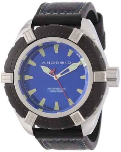 ANDROID Herren AD552BKBU Startus Analog Japanese-Quartz Black Armbanduhr